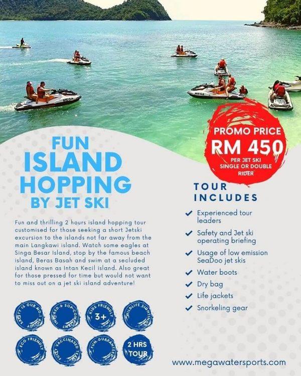 fun island hopping jet ski