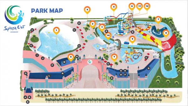 splash out langkawi map